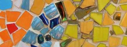 Buntes Mosaik-Keramikziegel Lizenzfreie Stockfotos