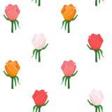 Buntes Muster der Rosen-Blumenblüte Stockfoto