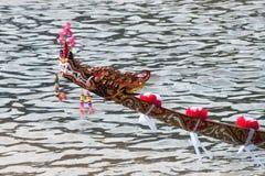 Buntes Muster des Kopfes ein Schlangenschiff Lizenzfreie Stockfotos