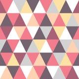 Buntes Muster des nahtlosen Dreiecks Vector geometrischen Hintergrund Stockfoto