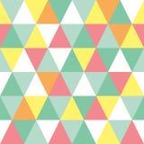 Buntes Muster des nahtlosen Dreiecks Vector geometrischen Hintergrund Lizenzfreie Stockbilder