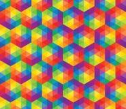 Buntes Muster des Vektors von geometrischen Formen Lizenzfreies Stockbild