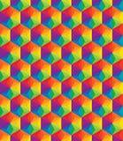 Buntes Muster des Vektors von geometrischen Formen Lizenzfreie Stockfotos