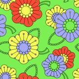 Buntes Muster mit abstrakten Blumen Stockbilder