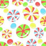 Buntes Muster mit abstrakten Süßigkeiten Lizenzfreie Stockbilder