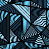 Buntes Muster mit blauem Dreieck Lizenzfreie Stockfotos