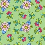 Buntes Muster mit Blume Stockfotos