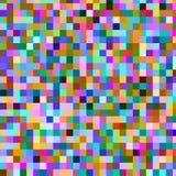 Buntes Muster mit chaotischen Pixeln Stockbild