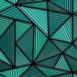 Buntes Muster mit grünem Dreieck Stockfotos