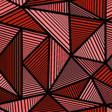 Buntes Muster mit rotem Dreieck Lizenzfreie Stockbilder