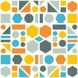 Buntes Muster von geometrischen Formen Stockbild