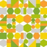 Buntes Muster von geometrischen Formen Stockfotos