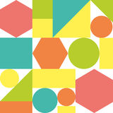 Buntes Muster von geometrischen Formen Stockfoto