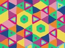 Buntes Musterdesign für Teppich und Decke lizenzfreie stockbilder