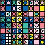 Buntes mutiges helles nahtloses Muster Stockbilder