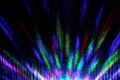 Buntes Nachtkaleidoskop des Röhrenblitzes Lizenzfreies Stockbild