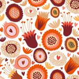 Buntes nahtloses Blumenmuster Stockbild