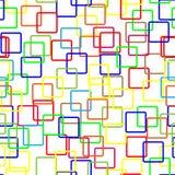 Buntes nahtloses Gruppenmuster auf weißem backgrou Lizenzfreie Stockfotos
