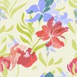 Buntes nahtloses mit Blumenmuster Lizenzfreies Stockfoto