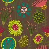 Buntes nahtloses mit Blumenmuster Lizenzfreie Stockfotos