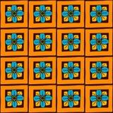 Buntes nahtloses mit Blumenmuster des Vektors mit Hand gezeichneten Gekritzelelementen Stockfotos