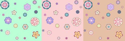 Buntes nahtloses Muster - abstrakte Blumen Lizenzfreies Stockbild