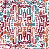Buntes nahtloses Muster in der ethnischen Art Lizenzfreie Stockfotos