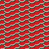 Buntes nahtloses Muster der Wassermelone Lizenzfreie Stockbilder