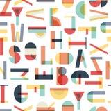 Buntes nahtloses Muster mit Buchstaben lizenzfreies stockfoto