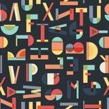 Buntes nahtloses Muster mit Buchstaben lizenzfreies stockbild