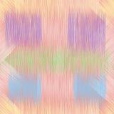 Buntes nahtloses Muster mit Schmutz streifte quadratische Elemente in den rosa, blauen, violetten, grünen Pastellfarben stock abbildung