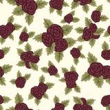 Buntes nahtloses Muster, rote Rosen auf hellem Hintergrund vektor abbildung