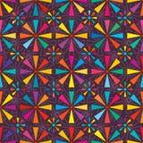 Buntes nahtloses Muster von acht Strahl lizenzfreie abbildung