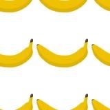 Buntes nahtloses Muster von Bananen Lizenzfreies Stockbild