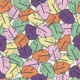 Buntes nahtloses Muster von gemalten Federn Stockfoto