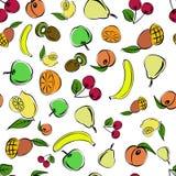 Buntes nahtloses Muster von saftigen Früchten Lizenzfreie Stockbilder