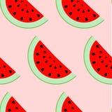 Buntes nahtloses Muster von Wassermelonenscheiben Lizenzfreie Stockbilder