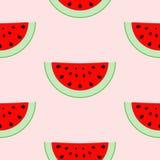 Buntes nahtloses Muster von Wassermelonenscheiben Lizenzfreies Stockbild