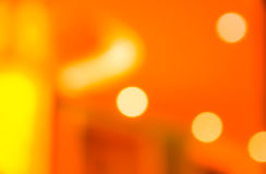 Buntes orange abstraktes Hintergrund bokeh Stockbild
