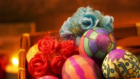 Buntes Ostern Paschal Eggs Celebration stock footage