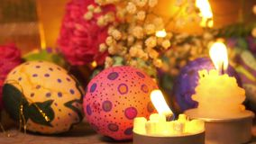 Buntes Ostern Paschal Eggs Celebration stock video footage