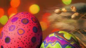 Buntes Ostern Paschal Eggs Celebration stock video