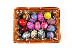 Buntes Ostern Paschal Eggs Celebration Stockfotos