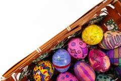 Buntes Ostern Paschal Eggs Celebration Lizenzfreie Stockfotografie