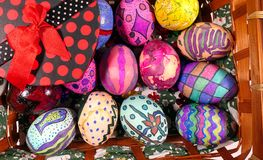 Buntes Ostern Paschal Eggs Celebration stockbilder