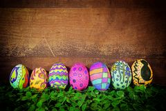 Buntes Ostern Paschal Eggs Celebration lizenzfreies stockfoto