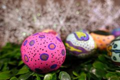 Buntes Ostern Paschal Eggs Celebration stockbild
