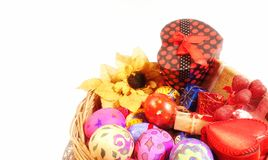 Buntes Ostern Paschal Eggs Celebration stockfotos