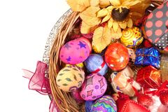 Buntes Ostern Paschal Eggs Celebration lizenzfreies stockbild
