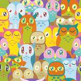 Buntes Owl Background Lizenzfreie Stockbilder